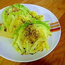 簡単おつまみ☆焼きキャベツバルサミコ酢がけ