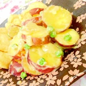 白味噌仕立て❤薩摩芋と油揚げの炊いたん❤
