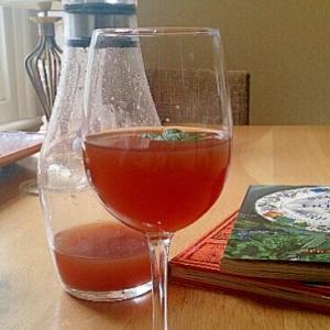 ピーチとジンジャーのあまーい紅茶、ミントの香り。