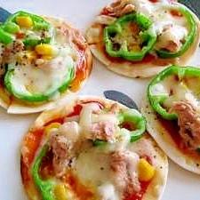 栃木県民らしく!餃子の皮deミニピザ