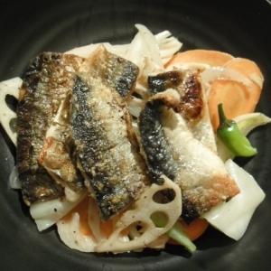 根菜と秋刀魚のおかずサラダ