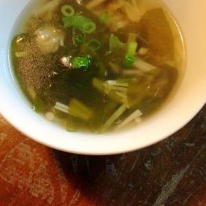 わかめとしょうがのスープ