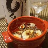 日本酒もワインもすすむ、ナマコと椎茸のアヒージョ