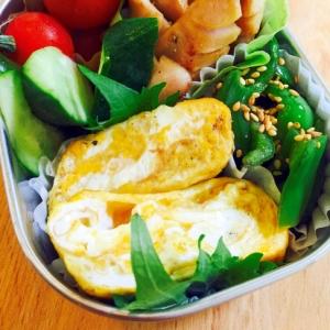 朝寝坊のお弁当おかず☆卵焼きとギザギザウィンナー