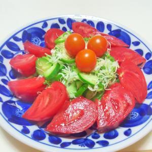 グリーン野菜と高リコピントマトのヘルシーサラダ