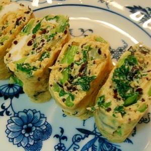 ひじきと小松菜の卵焼き