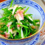水蓮菜とかまぼこの中華あえ