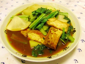 大根と小松菜のヘルシーカレースープ