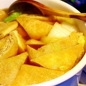 白菜と油揚げの鍋