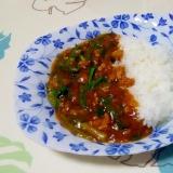 ニラとひき肉のあんかけご飯++