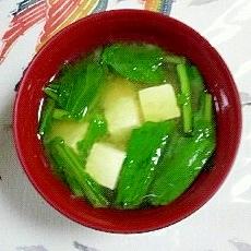 蕪の葉・茎のお味噌汁~(*^O^*)