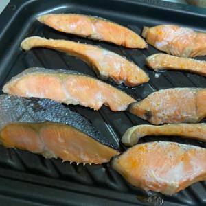 ビストロオーブンで鮭の塩焼き
