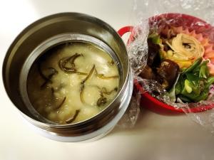 もち麦ダイエット 味噌雑炊スープジャー弁当