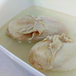 鶏むね肉で☆ゆで鶏