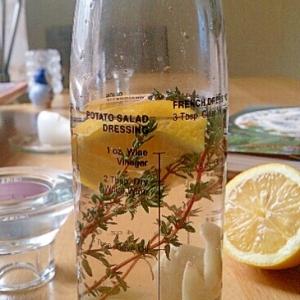 タイムとガーリック、レモンのビネガー。