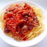 マッシュルームとしめじのトマトパスタ