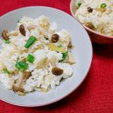 生姜としめじの炊込み御飯(炊飯器で簡単)
