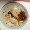 夜食に!高菜×鮭×すりごまのお茶漬け♪