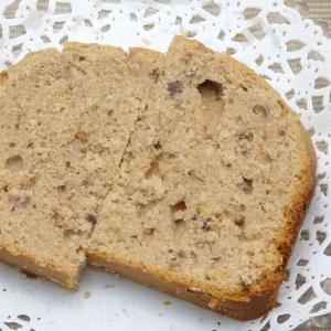 HBで作るつぶ餡と桜の塩漬けのバターケーキのレシピ