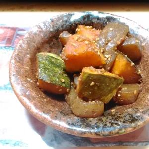 ★かぼちゃとこんにゃくの簡単炒め煮★ お弁当にも!