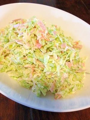 たっぷり☆野菜とハムのコールスローサラダ