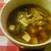 余り野菜の洋風スープ