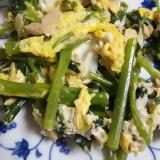 空芯菜とツナの卵炒め(^^)