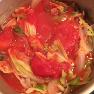 野菜ゴロゴロトマトスープ