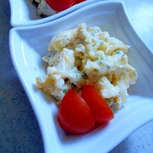 マカロニの海苔たまサラダ