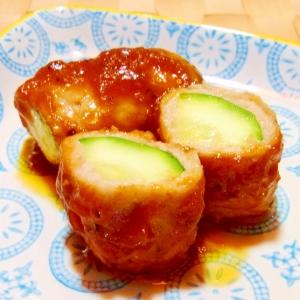 お弁当に★肉巻きズッキーニのケチャップ炒め