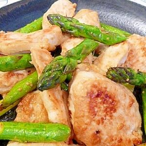 塩麹鶏むね肉とアスパラソテー