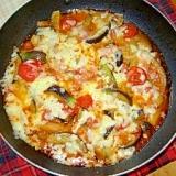 片付け簡単フライパンで作る茄子のチーズ焼き