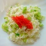 マヨガラスープの素で❤レタスブロッコリーネギ炒飯