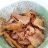 サツマイモと豚肉の甘辛炒め