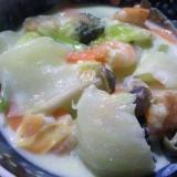 野菜たっぷり☆えびと白菜のクリーム煮