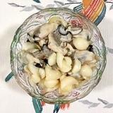 牡蠣、ユリの根の和え物