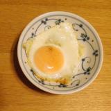 目玉焼き☆卵の殻に残った白身も綺麗にお掃除