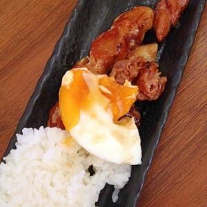 一人ランチ☆火を使わず洗い物少ない焼鳥と卵とご飯