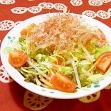 大根とキャベツのおかかサラダ(ポン酢ドレッシング)