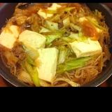 鍋で余った野菜の処理に!肉豆腐