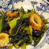 小松菜とチクワのラー油炒め