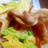 豚肉と白菜漬の炒め物