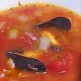 簡単 ムール貝のトマトスープ