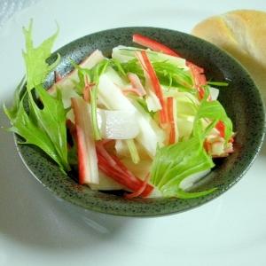 カニカマと白菜と水菜の和風サラダ&プチパンプレート