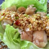 蒸し鶏のピリ辛中華風ソース☆
