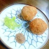 里芋の塩コロッケ(ソース2種を添えて)