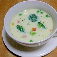 野菜たっぷり豆乳スープ