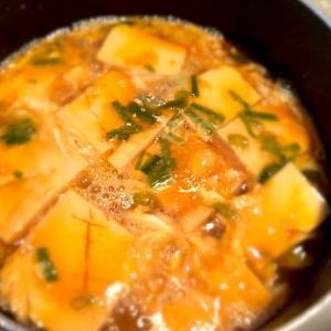余った素麺つゆで【豆腐の卵とじ】