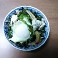 簡単美味しい。ほうれん草と小松菜の卵とじ