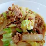 ご飯がすすむ☆挽き肉とキャベツの甘味噌炒め